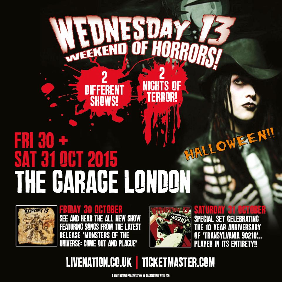 Wednesday 13 - Meet and Greet London Halloween 2015